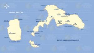 mapa ubicacion del archipielago de juan fernandez